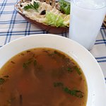Fish soup and tarama
