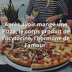 Ça c'est bien vrai !Soyons heureux, mangeons des pizzas !