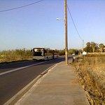 Автобус, курсирующий между Ретимно и Панормо, останавливается возле отеля