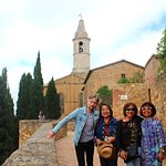 With Stefano in Pienza