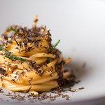 """D.one Restaurant - I Piatti - """"Spaghetti ai ricci di mare e tartufo"""""""