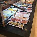 tons of cold meats and hot options at breakfast