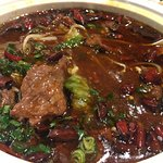 Hot Pot Style Sliced Beef with Veggies