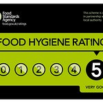 Awarded a food hygiene rating of 5