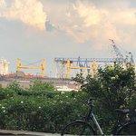 Blick Richtung Werft-Dock