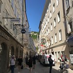 A main and famous street in Salzburg.