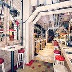 Our beautiful and cozy space in Casa Lola Rambla de Catalunya 70 :-)