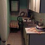 Kitchen, apliances weren`t conected to power. Fridge was very smelly.