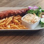 Big Ribchester Chips and Slaw