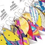 Add some colour in your life with these light weight earrings
