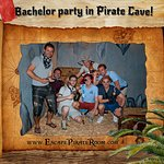 Barchelor party by French treasure hunters.