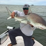 Christian Sommer with a 4 1/2 foot Blacktip Shark