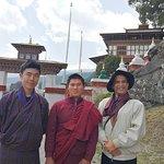 With a young Lama at KURJE LHAKHANG MONASTERY