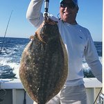 10lb Doormat Flook on the Jenna P.   Jenna P Fishing Charters