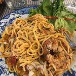 спагетти с лангустом