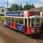 One of the lovely trams on the Seaton Tramway - this one unspoilt by the jobsworth