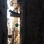 Tight alley with nice signs in Saint-Paul de Vence