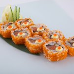 Sushi and other fish dishes available at Odessa;s sports bar!