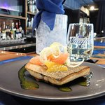 Signiture dishes: Pan Seared local Lake Trout with Yuzu Citrus Fennel Slaw