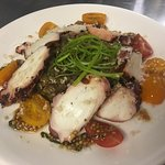Unique dishes: Grilled Octopus with Bacon Shallot Lentils