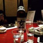 Tasting different types of Sake