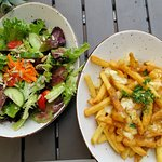 Salad and Poutine