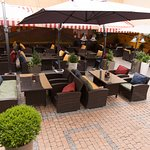 Outdoor seats at Mexico is all ready to host you in beautiful summer evenings.