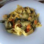 Fettuccine con verdure spadellate