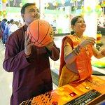 Play Basketball @ Majama Game Zone, Shahibaugs Biggest Game Zone! Call 09727615012