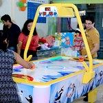 Play Air Hockey @ Majama Game Zone, Shahibaugs Biggest Game Zone! Call 09727615012