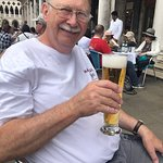 A cold beer on a hot day in Venice