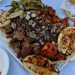 Lebanese Meze - Lamb, chicken and pork and beef kaftas