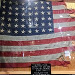 The flag that flew over the ship on D-Day, June 6, 1944.