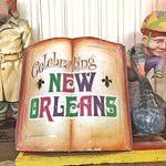 Outside of the gift shop at Mardi Gras World