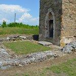 Strei Church - Tower entrance and roman villa ruins