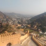 View of mountains from Amber Fort