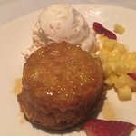 Pineapple Upside Down Cake Caramelized Pineapple Baked with Brown Sugar Pound Cake - A la Mode