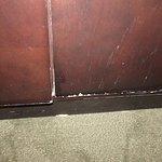 Scratched furniture