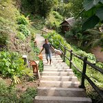 Lots of stairs to climb to get to your bungalow. Good exercise!