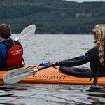 Sea kayaking near Orca Camp in Johnstone Strait, BC