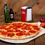 Can't go wrong with a hand tossed wood fired pepperoni pizza!