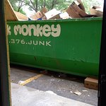 again, dumpster right outside the door to our room