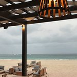 The view overlooking the beach from your table