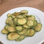 Zucchini chips, great snacking!