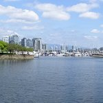 Panorama from South False Creek Seawall Trail