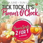 Tick! Tock! It's Pimms O'Clock! Enjoy the benefits of great views, good food and colourful Cockt