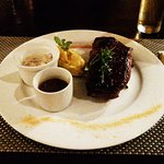 Imported New York Angus with an herb butter medallion and truffled mashed potatoes