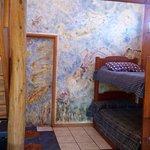 Sala de estar 1er piso en Cabaña Suite de 2 pisos