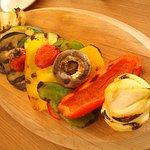une entrée savoureuse: légules grillés à l'huile