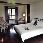 pavillon, chambre lit queen, salle de bain douche et possibilité d'ajouter un lit d'appoint